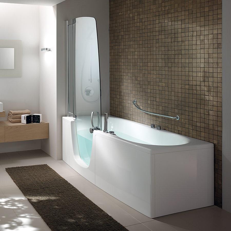 Badekar og dusj i ett