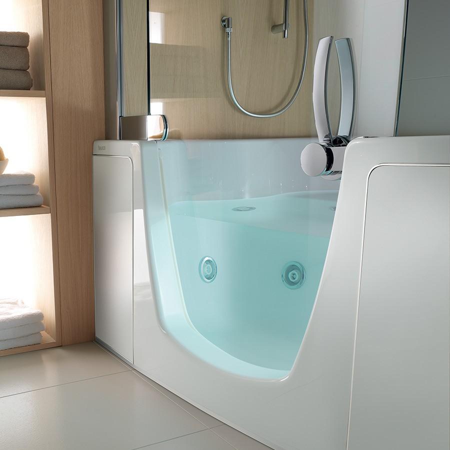Badekar med dusjdør