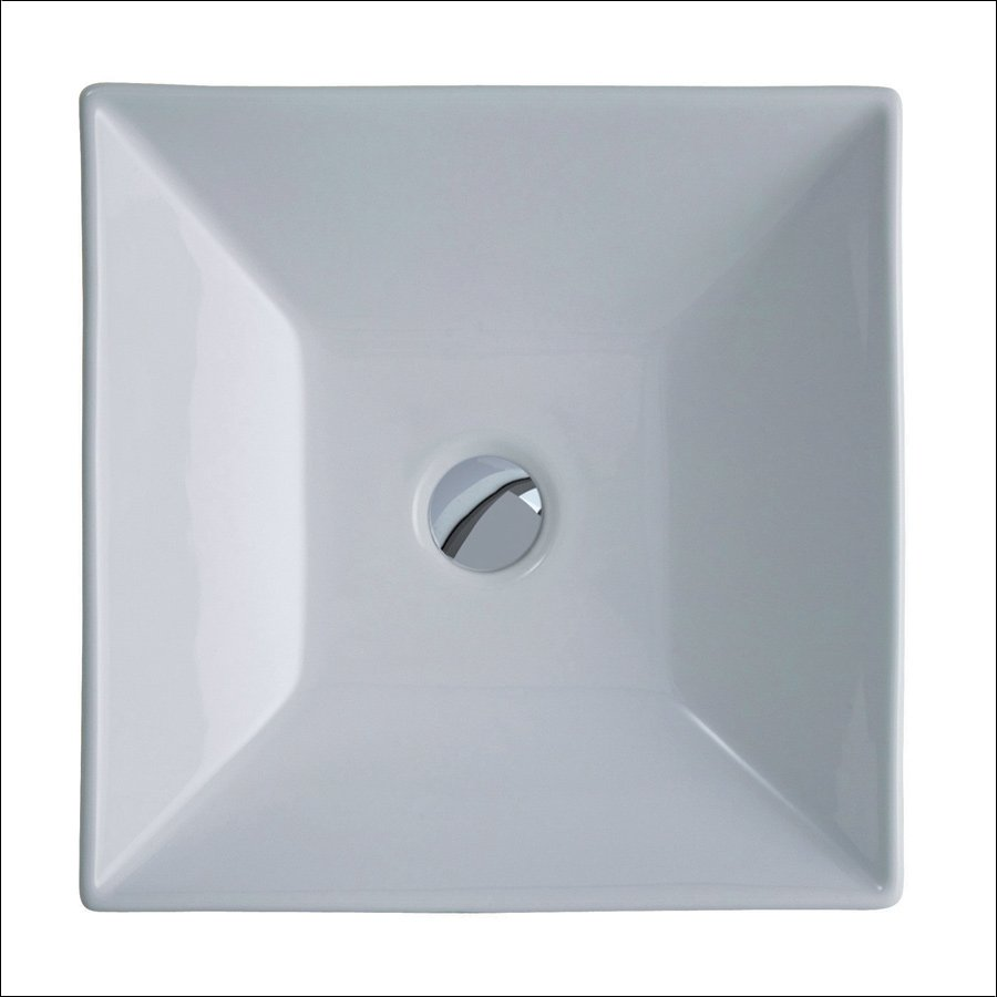 Square 36 hvitt servant for benkeplate | Design4home